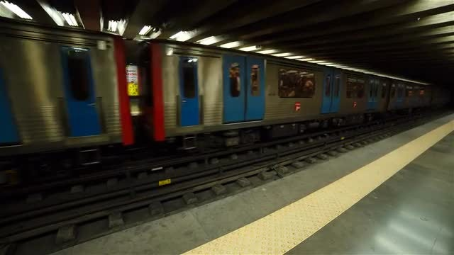 Metro Train Arriving At Station: Stock Video