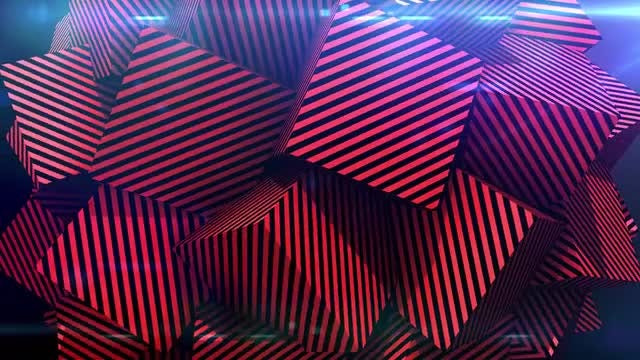 Striped Red Cubes Mash-up: Stock Motion Graphics