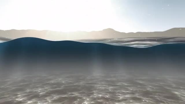 Underwater Cutaway Loop: Stock Motion Graphics