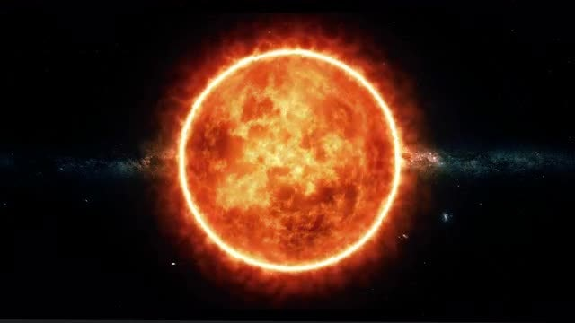 Sun With Solar Flares: Stock Motion Graphics