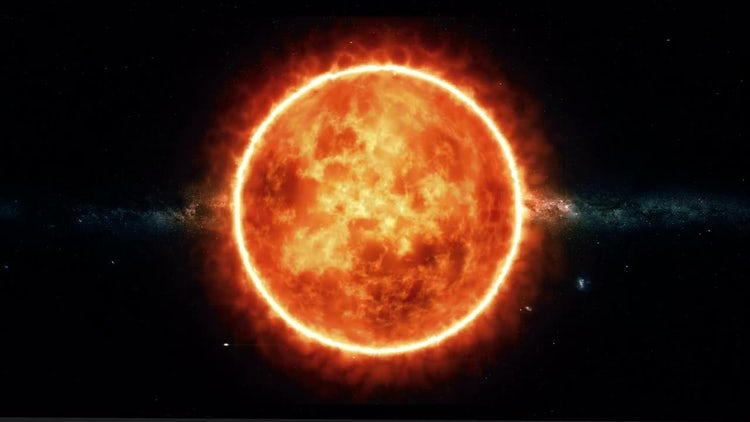 Sun With Solar Flares: Motion Graphics