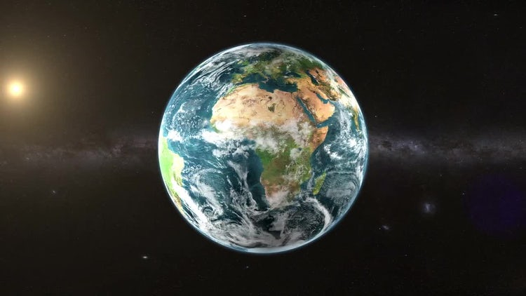 Planet Earth Rotate In Space: Stock Motion Graphics