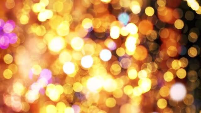 Festive Bokeh Sparkling Lights: Stock Motion Graphics