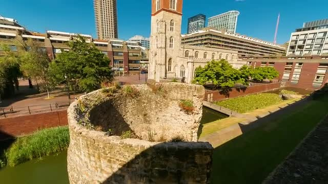 Roman Ruins In London: Stock Video