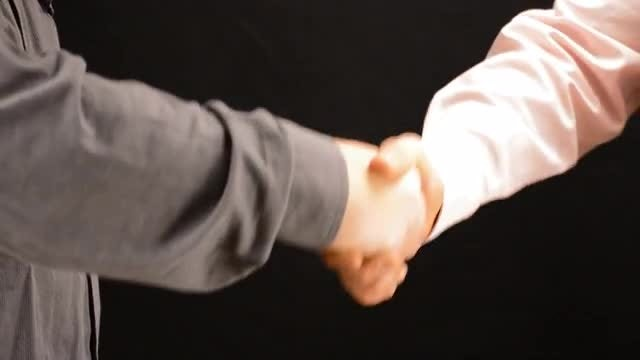 Deal Sealed Handshake: Stock Video
