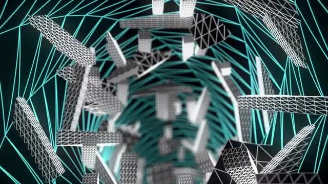 Wireframe Tunnel Loop: Stock Motion Graphics