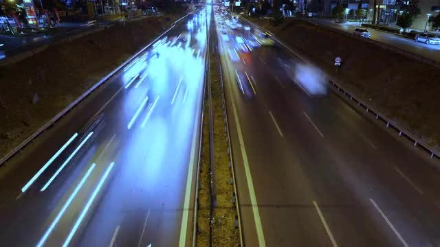 Hyper Lapse Of City Traffic: Stock Video