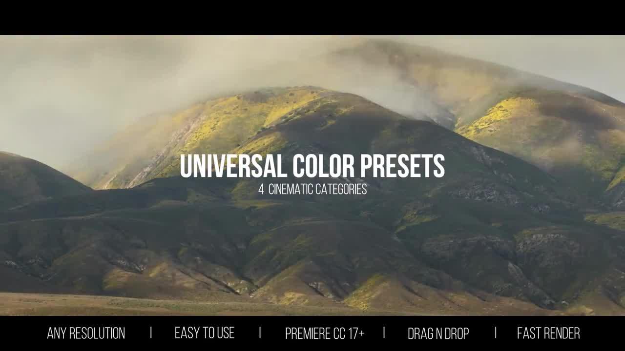 Universal Color Presets - Premiere Pro Presets | Motion Array