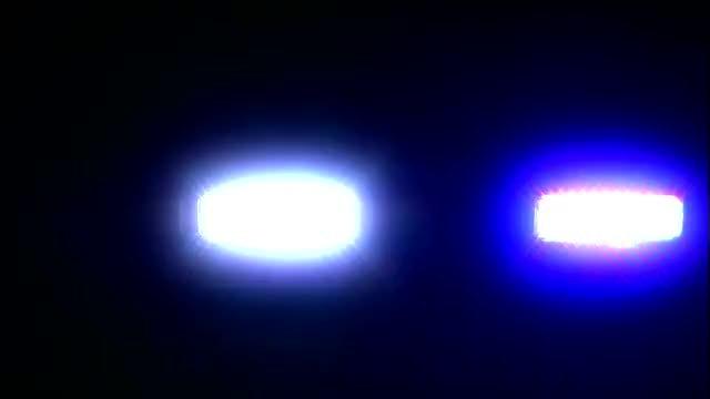 Police Siren Lights Flashing: Stock Video