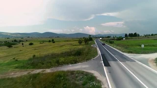 Black Mercedes Tracking Shot: Stock Video