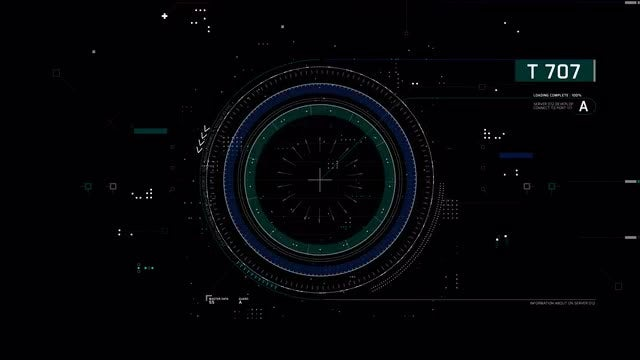 Hi-tech Rotary HUD Interface: Stock Motion Graphics