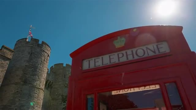 Red Telephone Box: Stock Video