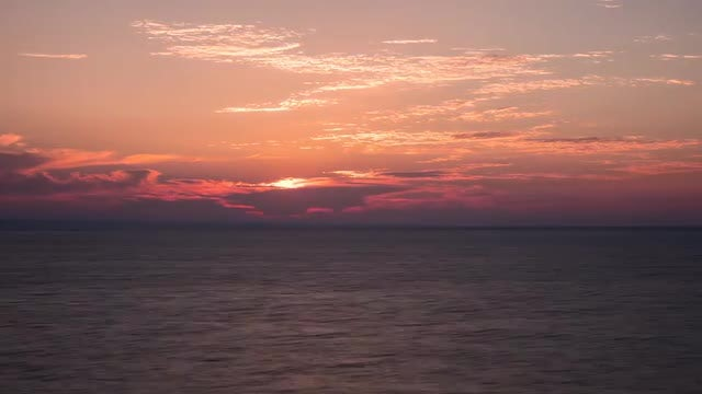 Dramatic Red Sunrise Time Lapse: Stock Video