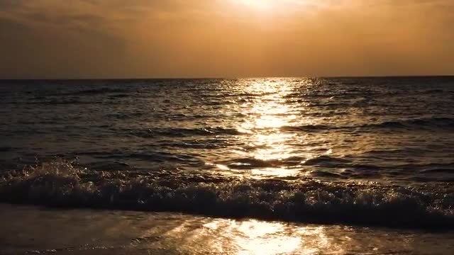 Sea Reflected Light At Sunrise: Stock Video