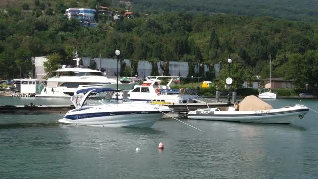 Luxury Boats In The Marina: Stock Video