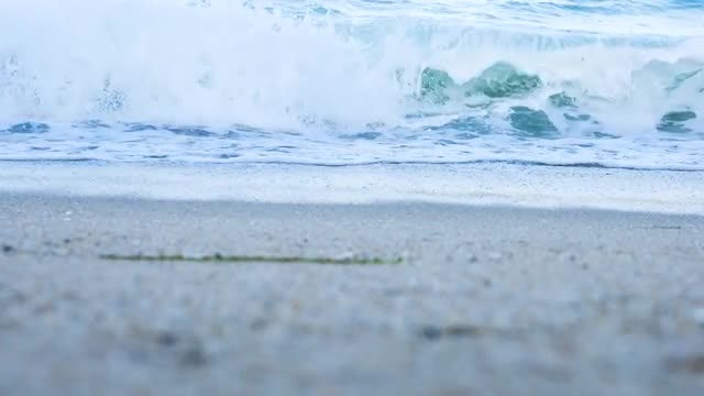 Waves Breaking On The Beach: Stock Video