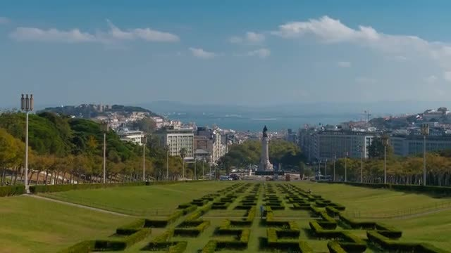 Park In Lisbon, Portugal: Stock Video