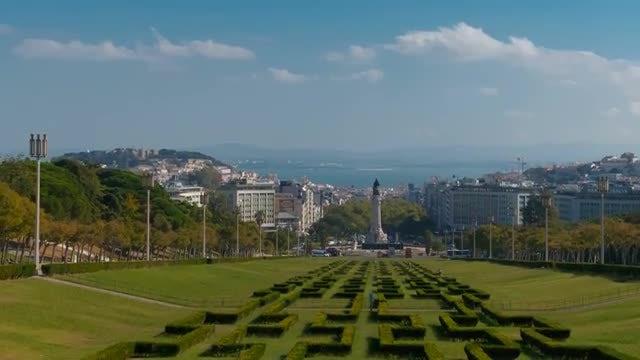 Park In Lisbon, Portugal: Stock Video