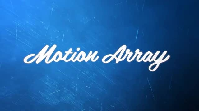 Blue action Logo Reveal: After Effects Templates