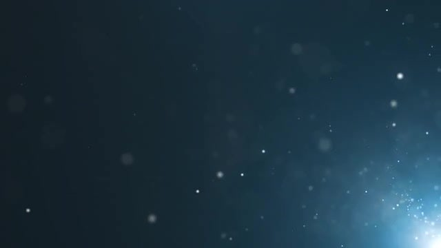 Light Particles On Blue Background: Stock Motion Graphics