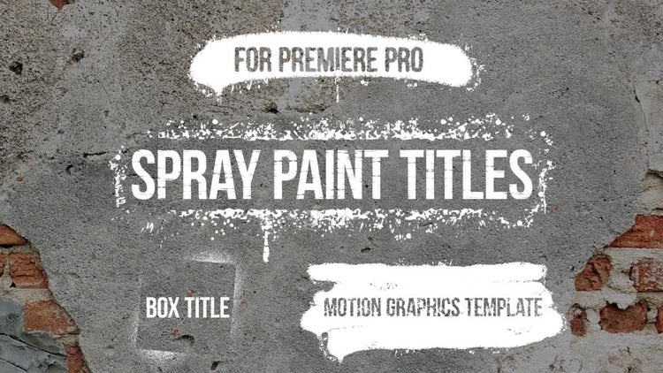 spray paint titles motion graphics templates motion array
