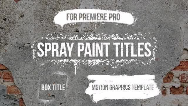 Spray Paint Titles: Motion Graphics Templates