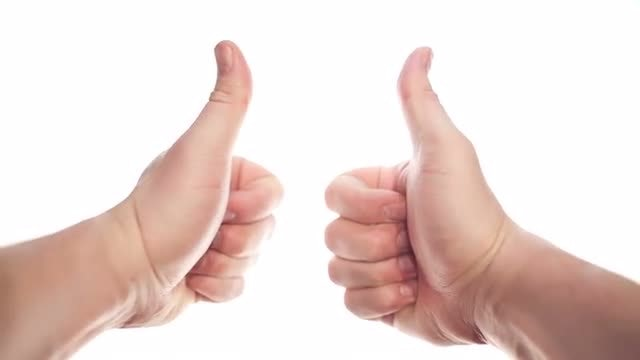 Two Thumbs Up: Stock Video
