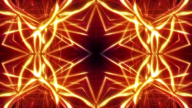 Fiery Kaleidoscope Background: Stock Motion Graphics