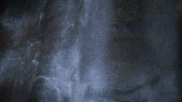 Misty Waterfall In The Mountains: Stock Video
