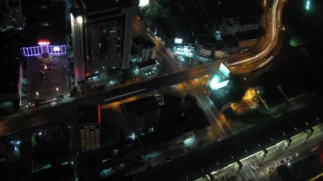 Heavy City traffic At Night: Stock Video