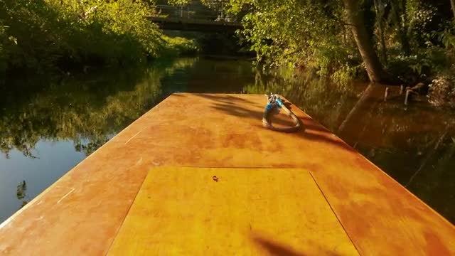 POV Of River Boat Ride: Stock Video