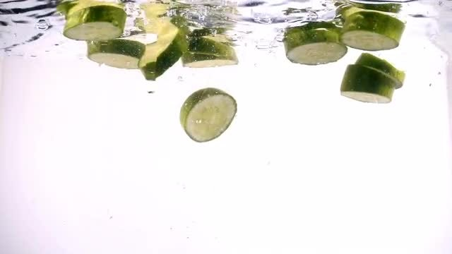 Cucumber In Water: Stock Video