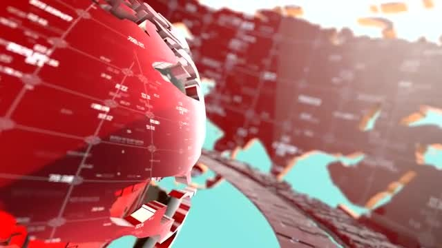 Digital Data Earth Background: Stock Motion Graphics