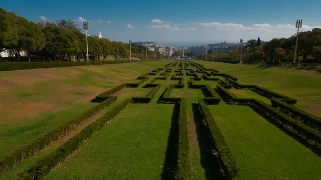 Edward VII Park, Lisbon, Portugal: Stock Video