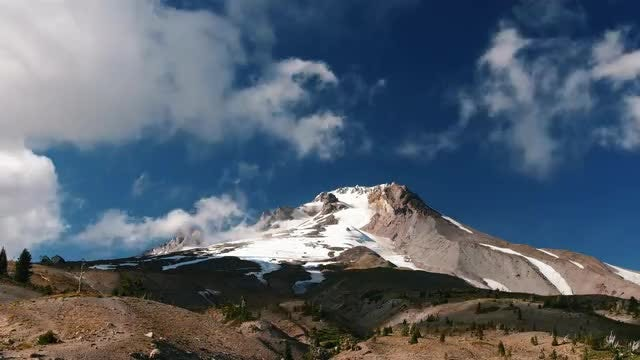 Time Lapse Of Large Mountain: Stock Video