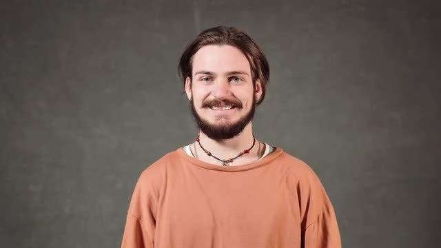Handsome Caucasian Man Smiling: Stock Video