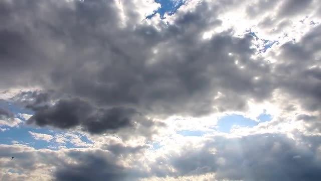 Autumn Rain Clouds Moving: Stock Video