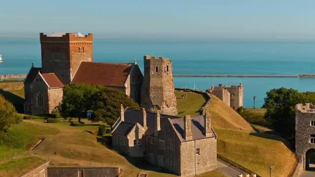 Establishing Shot Of Dover, England: Stock Video