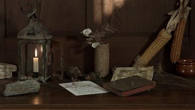 Old Barn Lantern: Stock Video