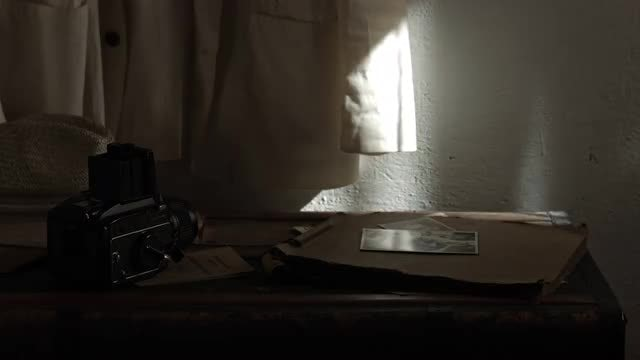 Folding Camera In Abandoned Room: Stock Video