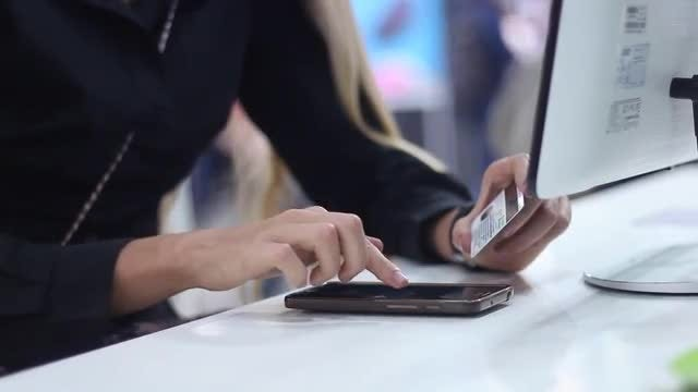 Woman Shopping Online Using Smartphone: Stock Video