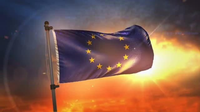 Flag Of European Union Loop: Stock Motion Graphics