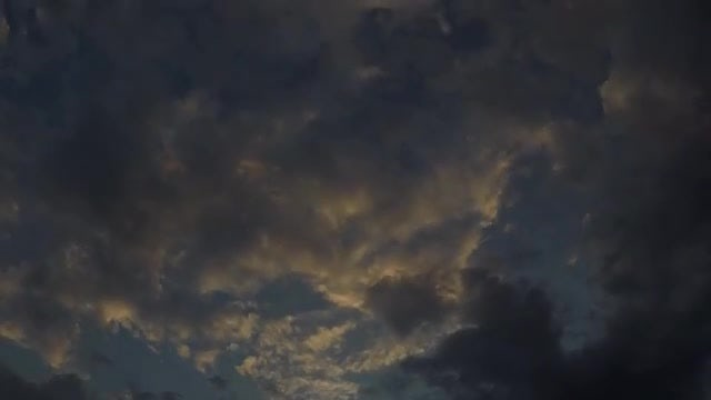 Time Lapse Of Dark Clouds: Stock Video