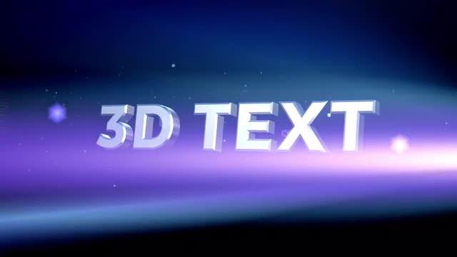 3d Intro Titles 110134 + Music