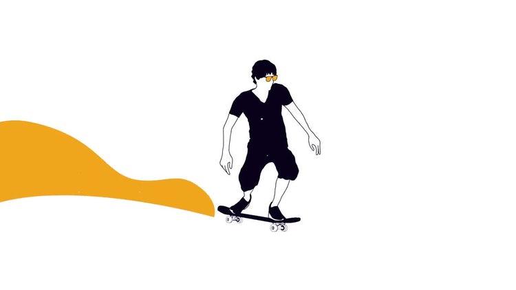 Skateboarder Logo Reveal: Premiere Pro Templates