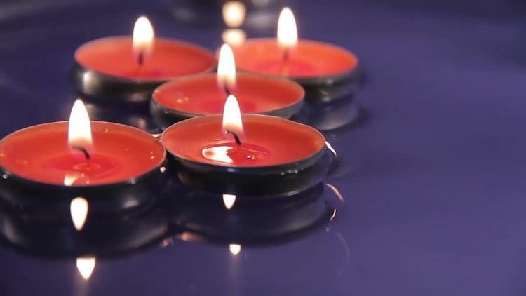 Decorative Candles Floating On Water: Stock Video