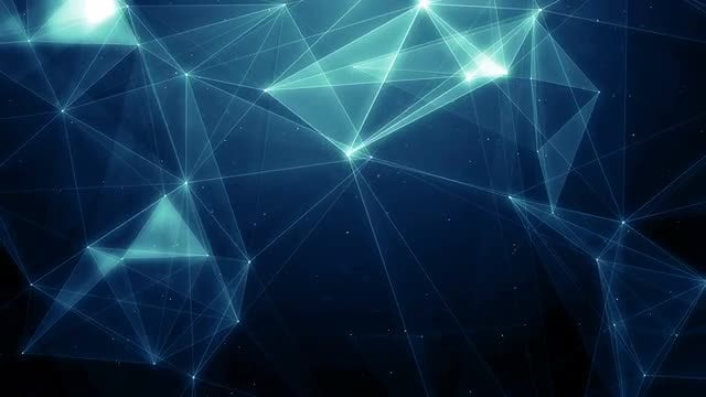 Blue Plexus In Space Background: Stock Motion Graphics