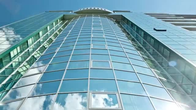 Time Lapse Of Skyscraper Building: Stock Video