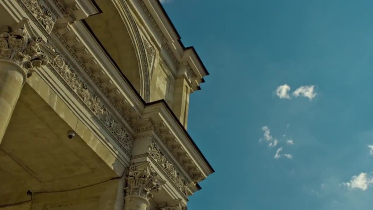 Low-angle Shot Of Classical Building: Stock Video