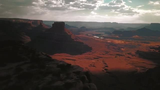 Sunset Over The Canyonlands, Utah: Stock Video